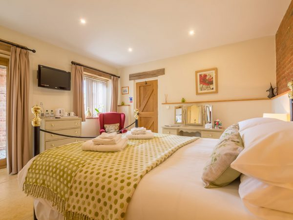 The Cart Lodge Room at West Heath Barn Luxury Bed & Breakfast Accommodation in Norfolk