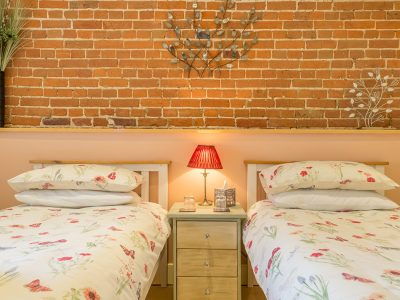 The Granary Twin Room at West Heath Barn Luxury Bed & Breakfast Accommodation in Norfolk