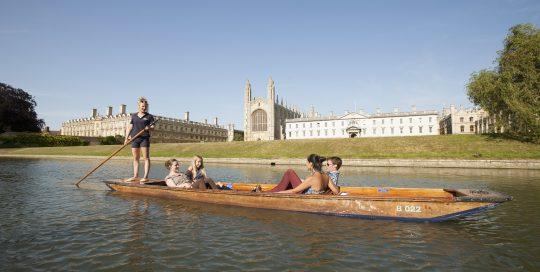 Enjoy punting in Cambridge