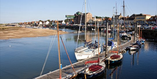 Wells-next-the-Sea harbour is a delightful sight
