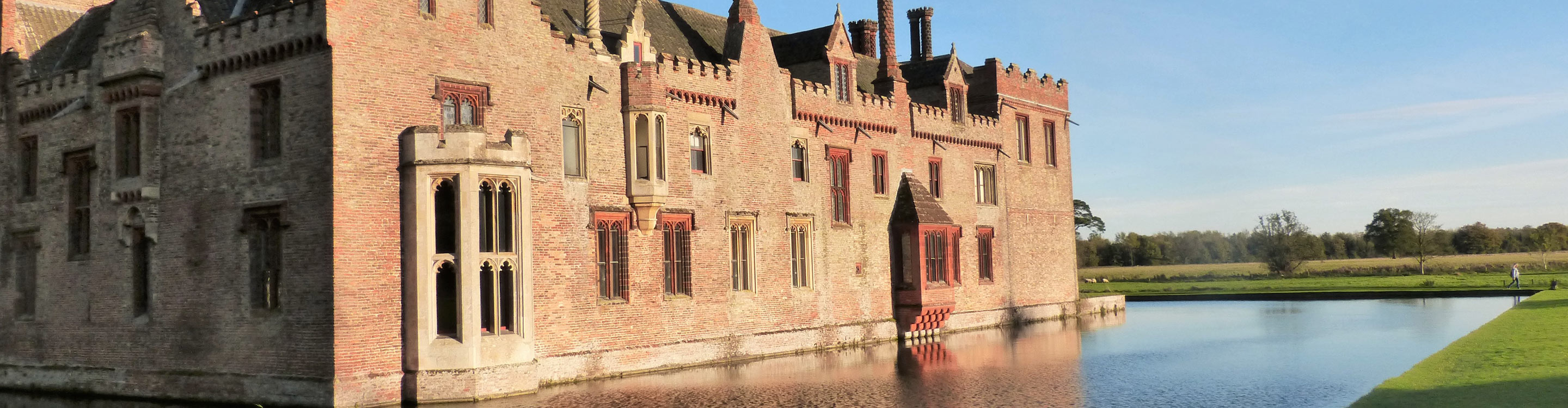 There are plenty of historic buldings in Norfolk, Oxburgh Hall